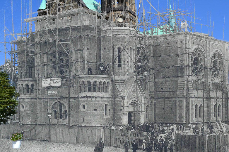 Wiederaufbau der Hauptkirche, Photomontage