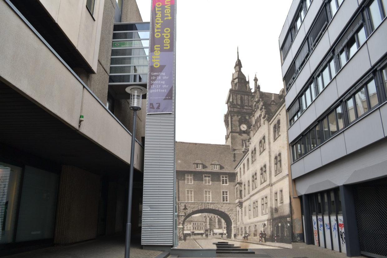 Rheydter Rathaus, damals und heute, Photomontage