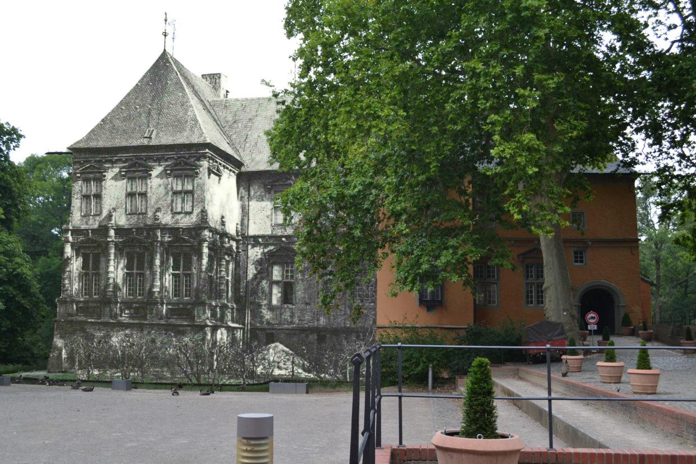 Schloss Rheydt damals und Heute, Photomontage